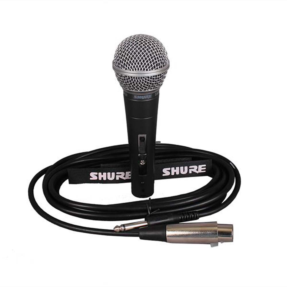Shure Wired Black Mic With 5 Meter Long Cable