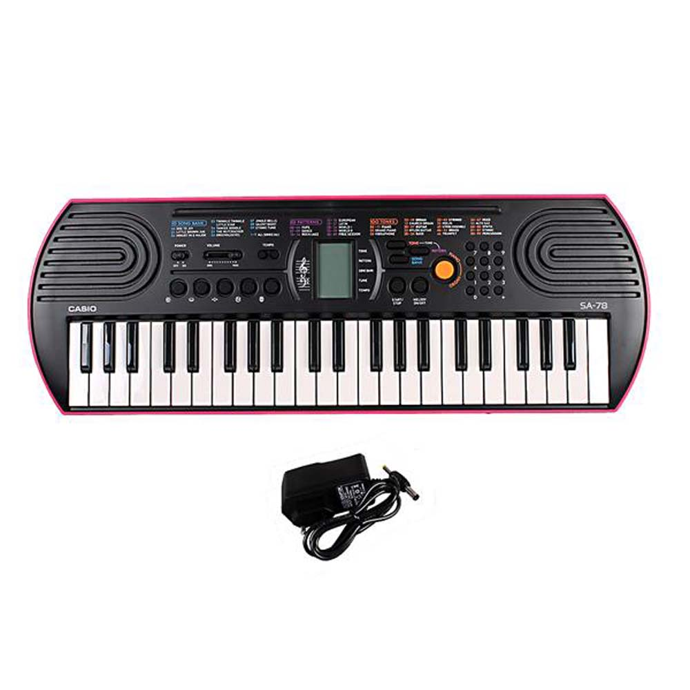 Casio SA 78 Keyboard With Adapter