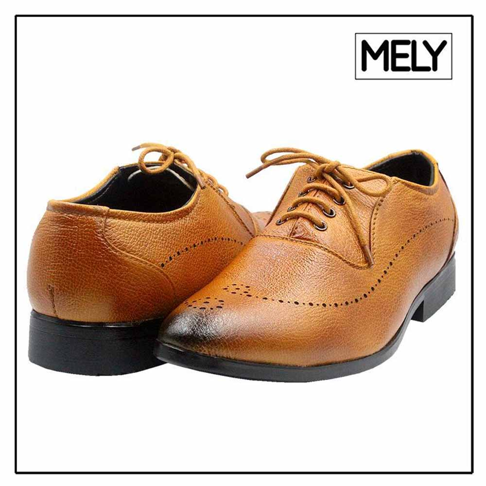 Mely Tan Formal Brogue Shoes For Men