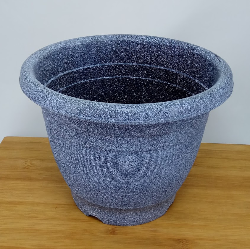 Plastic Flower Pot Stone Painted Small 200 mm Diameter * 150 mm Height