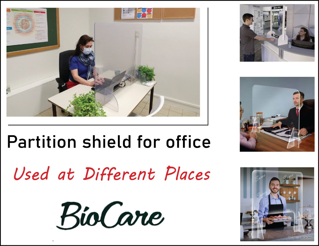 Partition Shield For Office (24*24)Inch