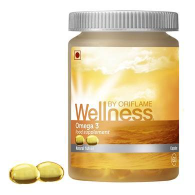 Oriflame Wellness Omega 3 Food Supplements- 60 Capsules