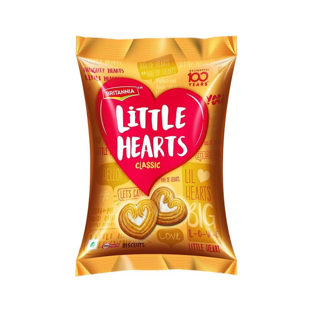 Britannia Little Hearts Pack Of 10 - 23gm