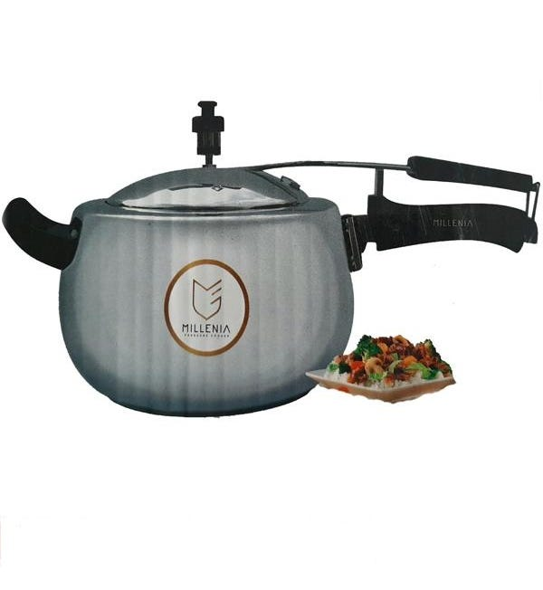 Millenia Pearl Induction Base Pressure Cooker with Stainless Steel lid 5.5 Litre