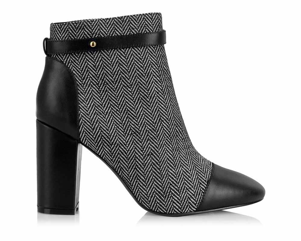 Yull Shoes Chester Grey Block Heel Boot