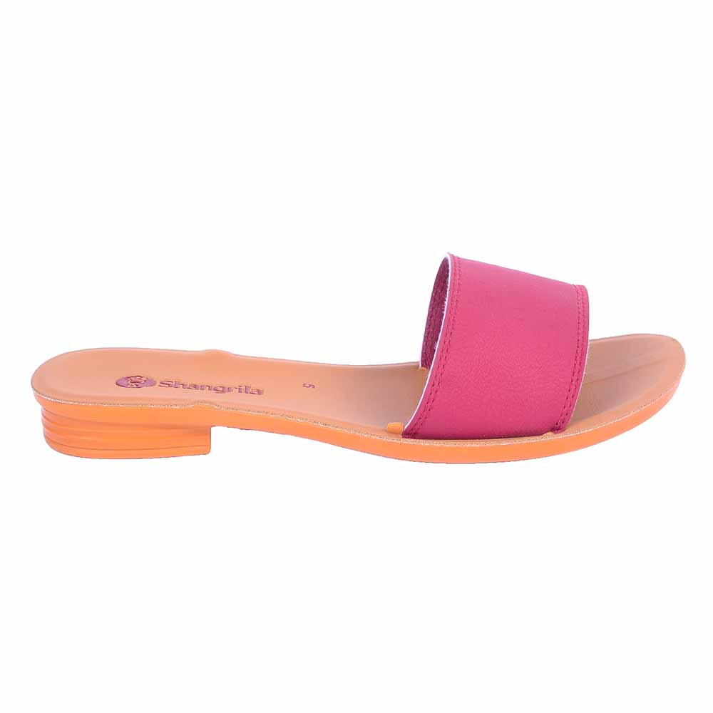 Shangrilla Pink PU Leather Sandal for Women SPL-1009 with Free SEG-203 Slippers