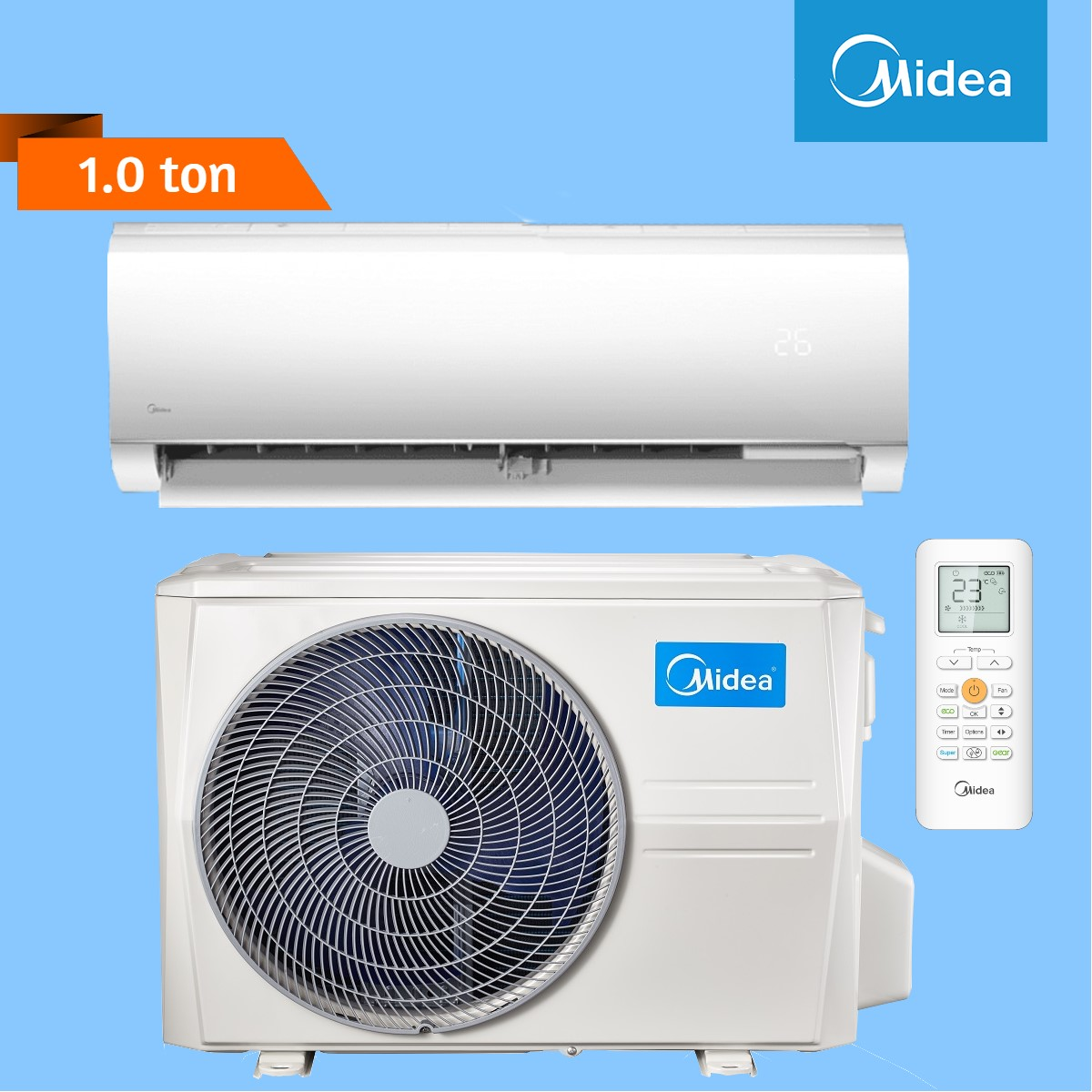 Midea Wall Mounted 1 Ton Air Conditioner (Blanc Series)
