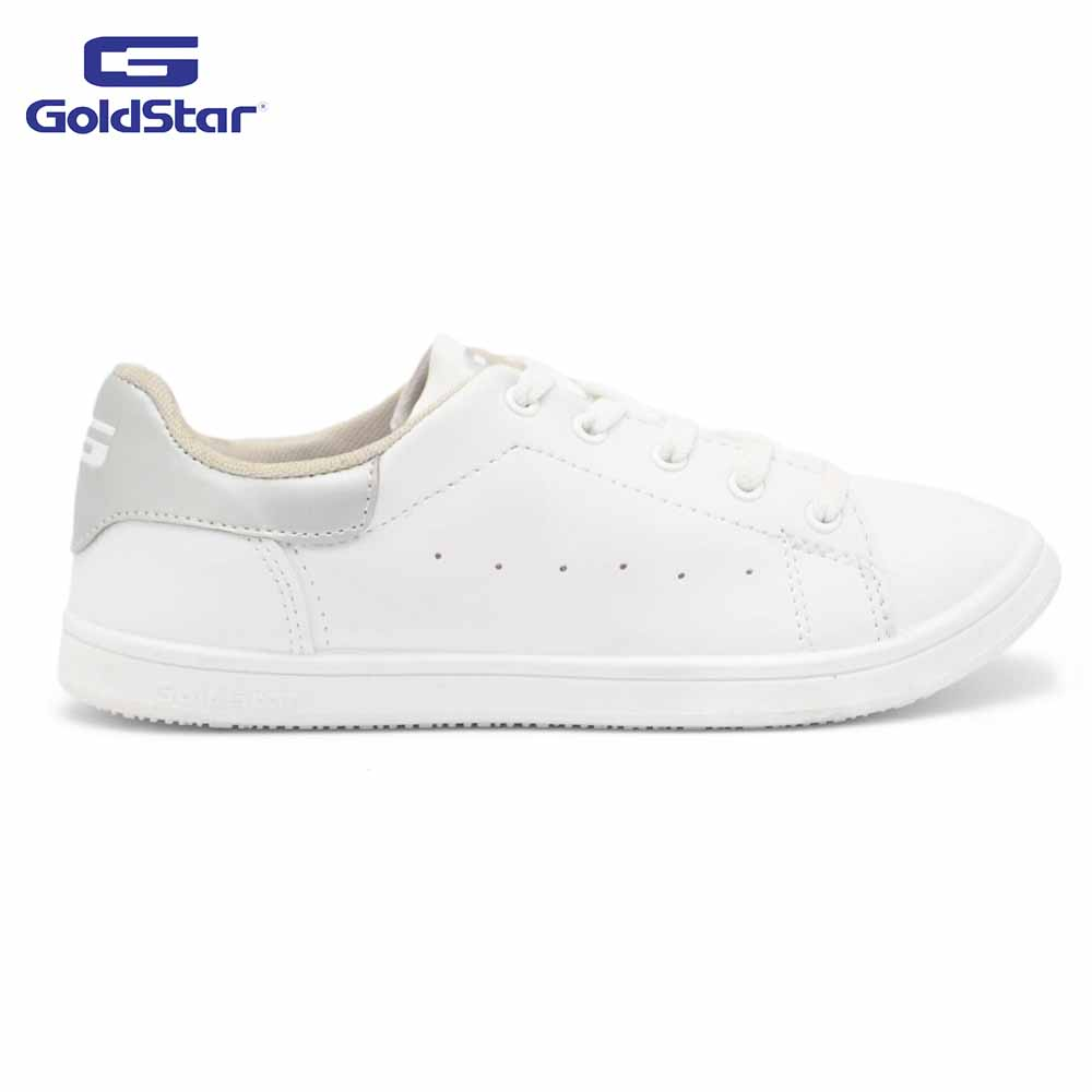 Goldstar White/Silver Sports Shoes For Women - Vibes