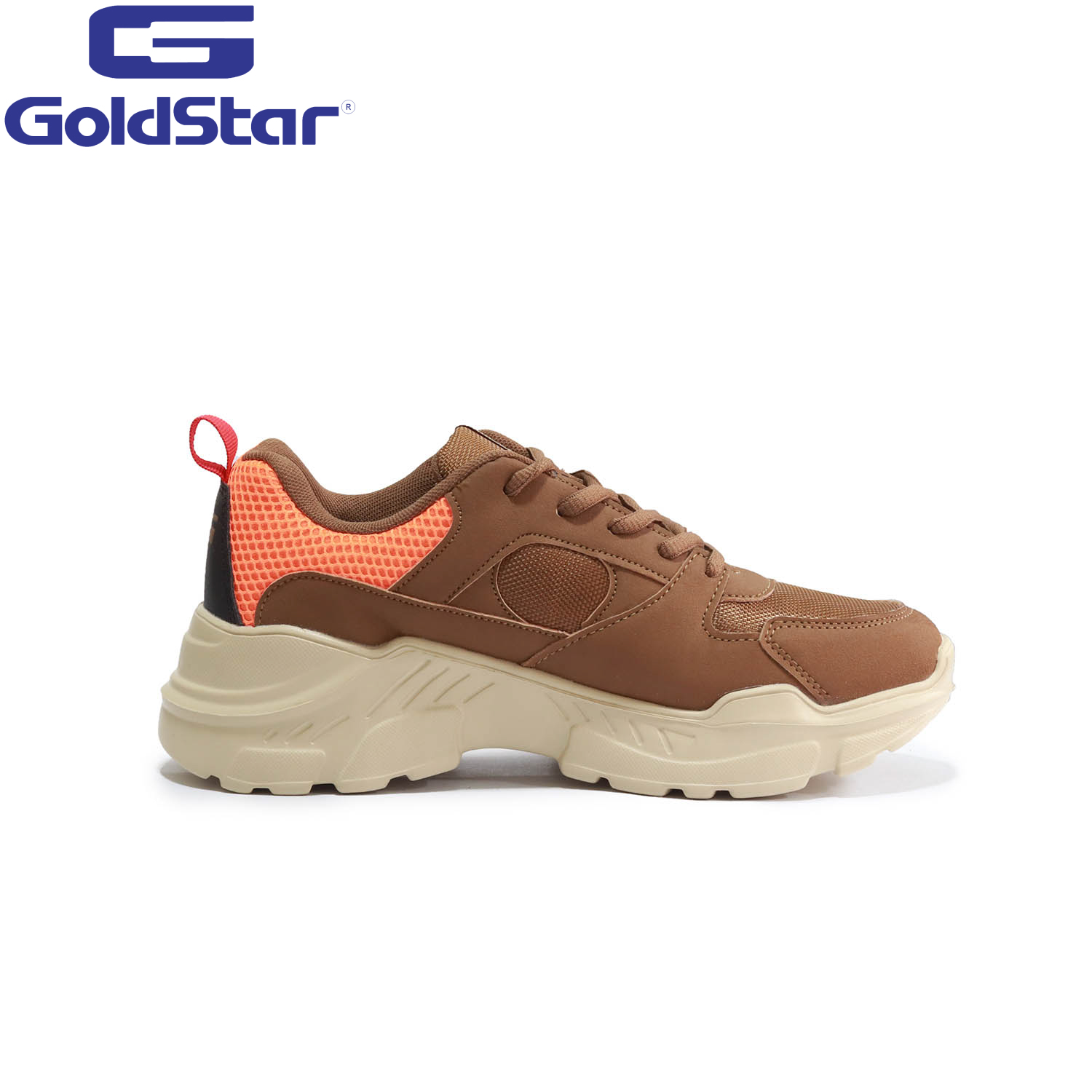 Goldstar Brown / Orange Sports Shoes For Men - 9137
