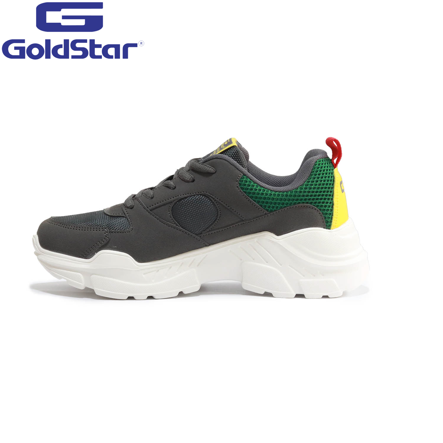 Goldstar Dark Gray / Green Sports Shoes For Men - 9137