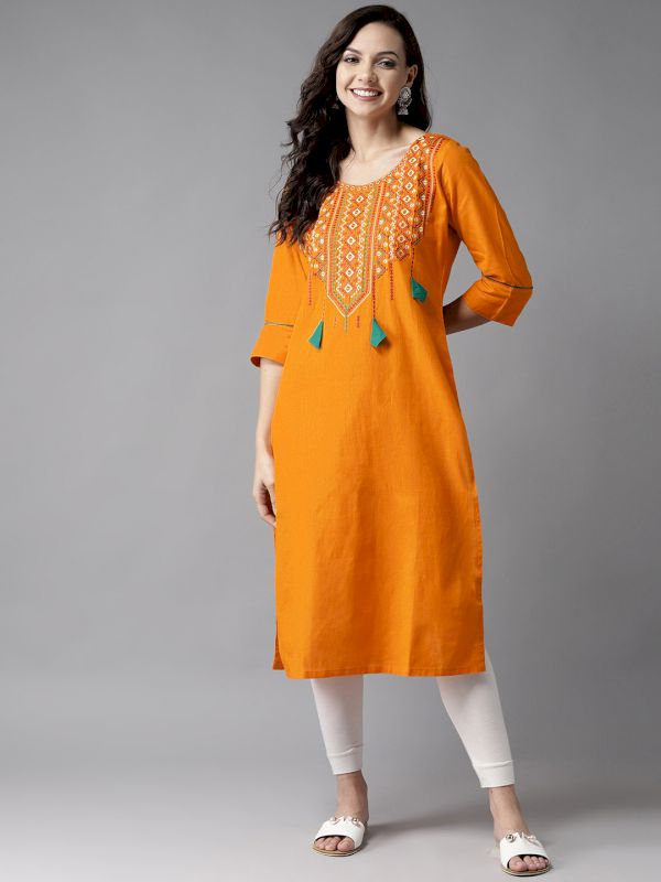 HERE&NOW Yoke Design Straight Kurta
