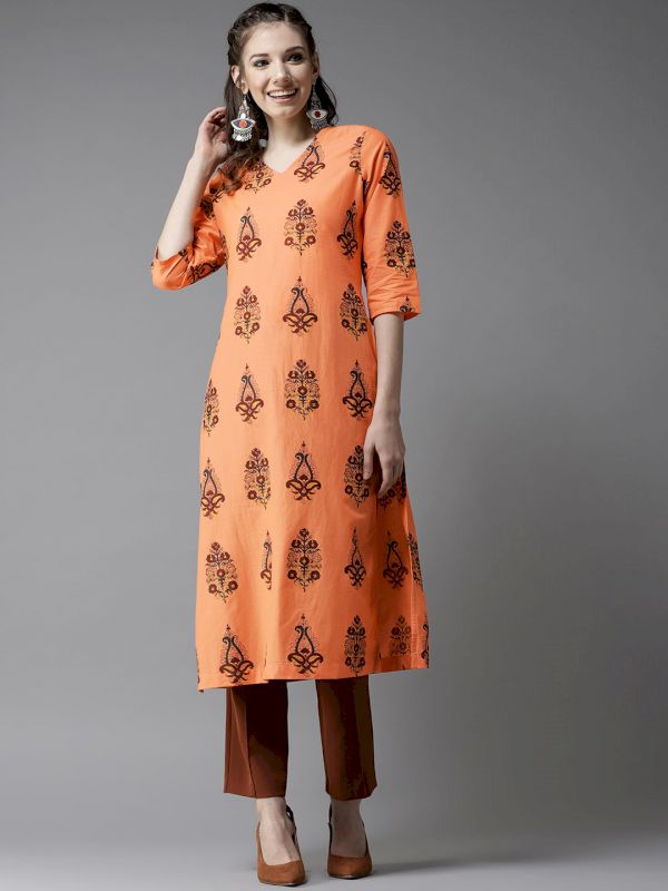 HERE&NOW Women Printed Straight Kurta