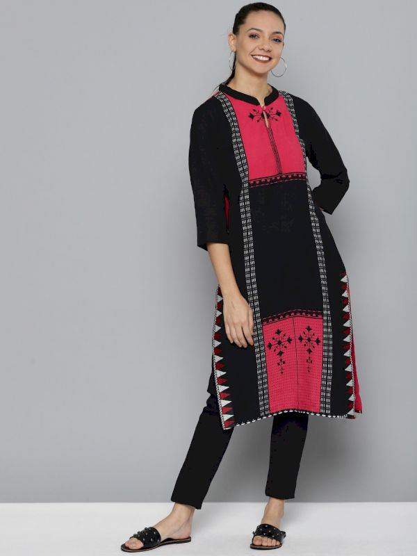 HERE&NOW Printed Straight Kurta