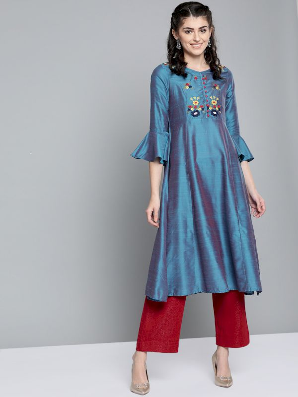 HERE&NOW Floral Yoke Design Kurta