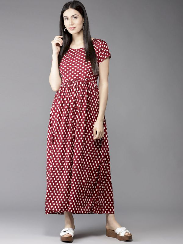 HERE&NOW Women Printed Maxi Dress