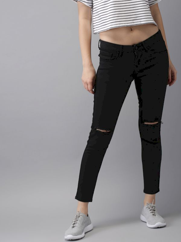 HERE&NOW Women Ankle Skinny Fit Jeans