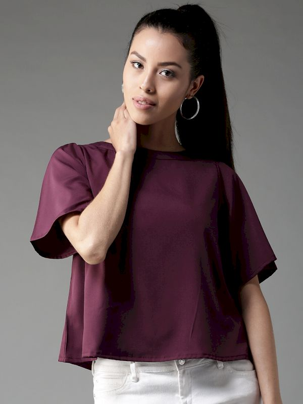 HERE&NOW Solid A-Line Top