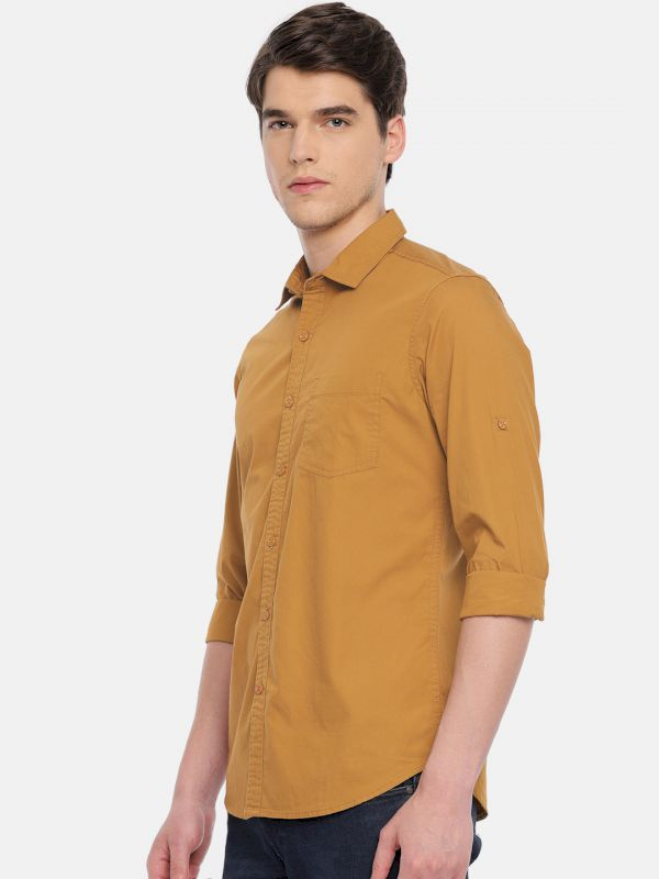 HERE&NOW Men Slim Fit Casual Shirt