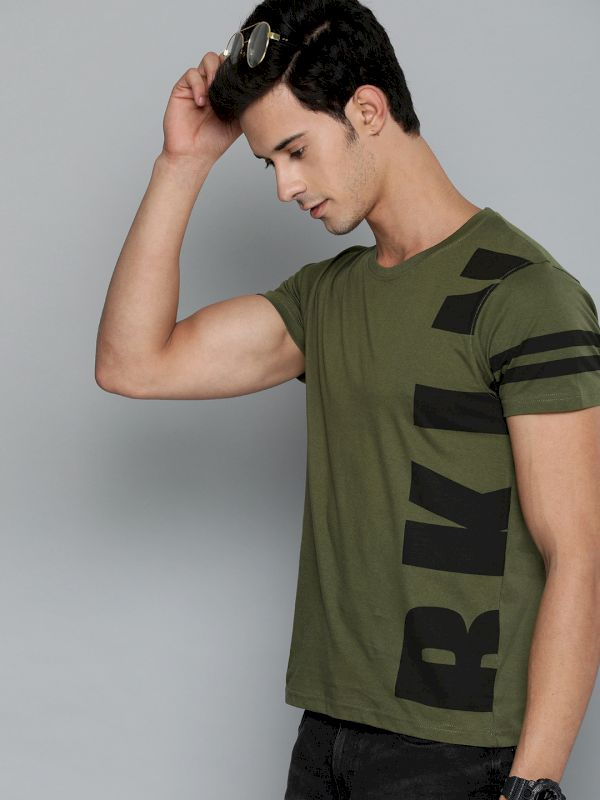 HERE&NOW Men Printed Round Neck T-shirt