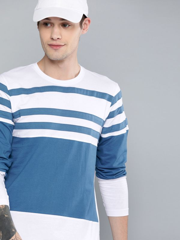 HERE&NOW Striped Round Neck T-shirt