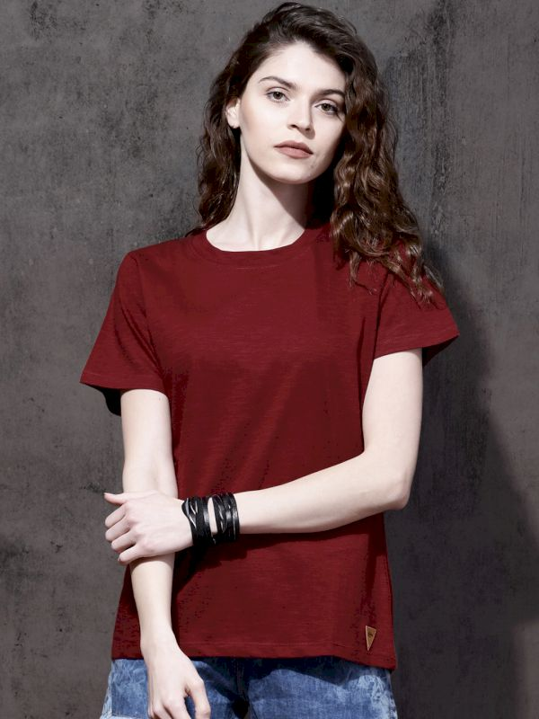 Roadster Solid Round Neck T-shirt