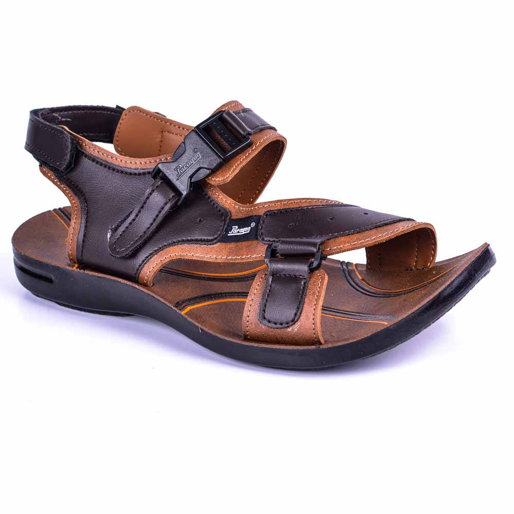 Paragon Brown Slickers 08920 Slippers For Men