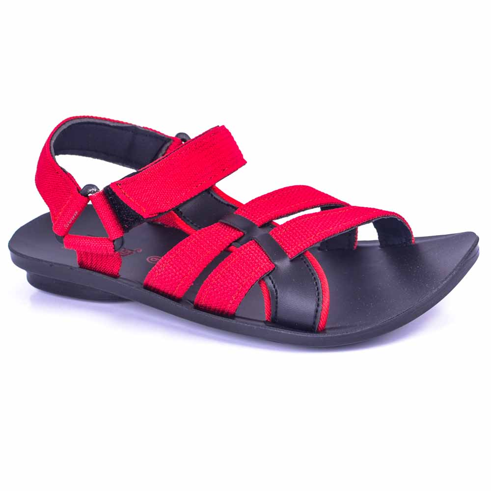 Paragon Red Black Slickers 08946 Slippers For Men