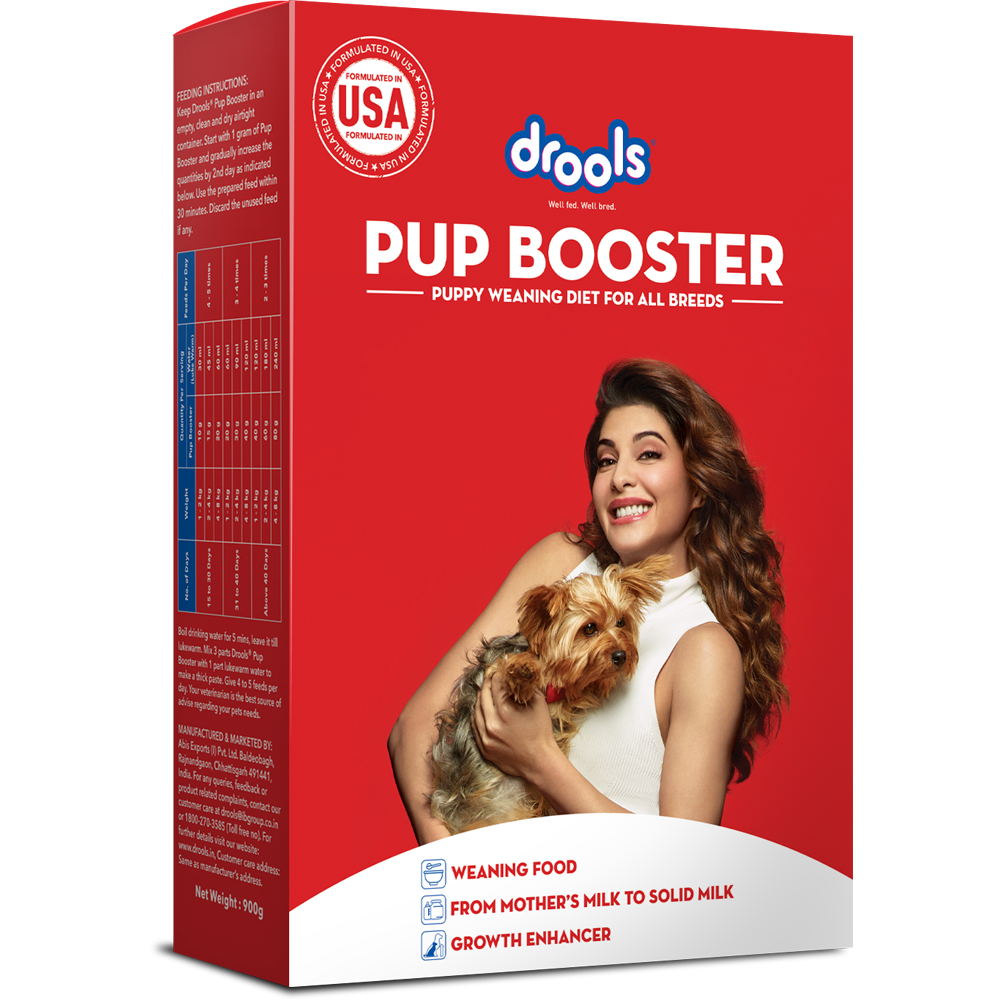 Drools Pup Booster - Puppy Weaning Diet for All Breeds, 900 Grams