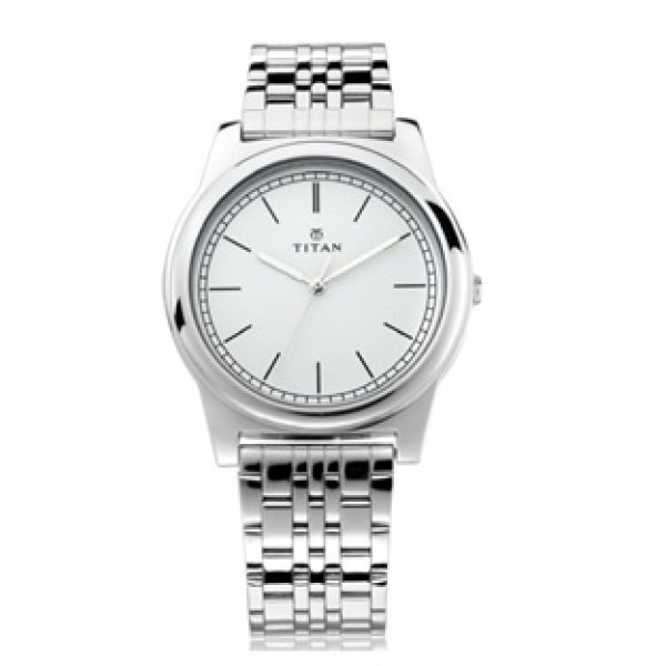 Titan Gents Classique Watch With Metal Case And Silver Metal Strap 99001SM01