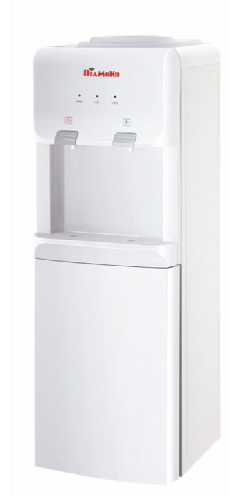 Diamond Marina Long Water Dispenser Hot And Normal With Bottle Cabinet