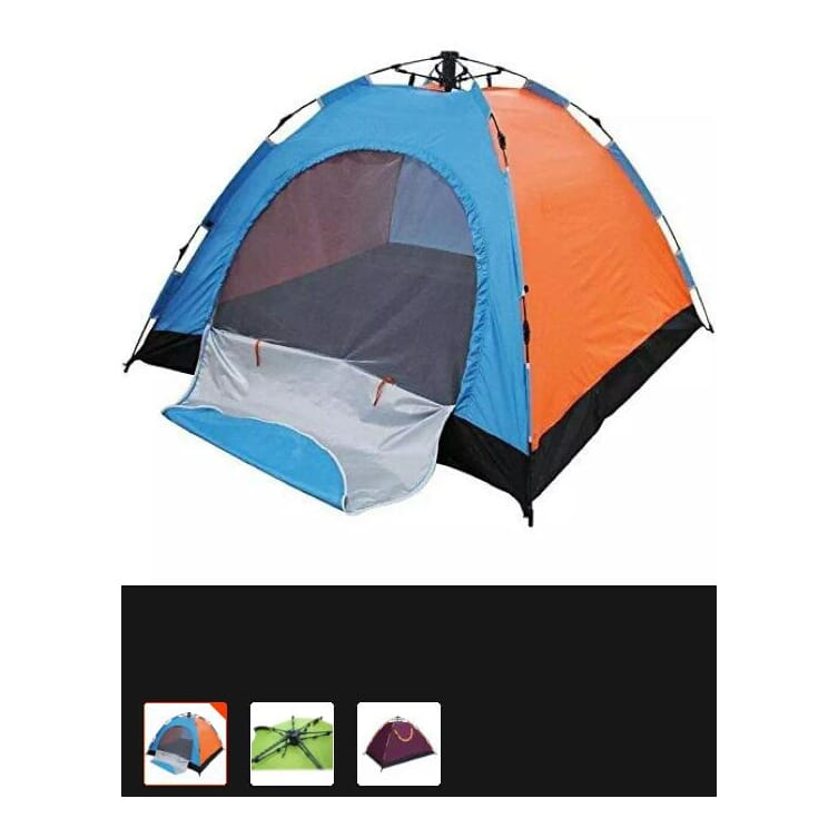 Pop Up Tents, 4 Person Automatic Hydraulic Family Tents, Waterproof Backpacking Tents For Outdoor Sports Camping Hiking Ultralight With Zippered Door And Carrying Bag