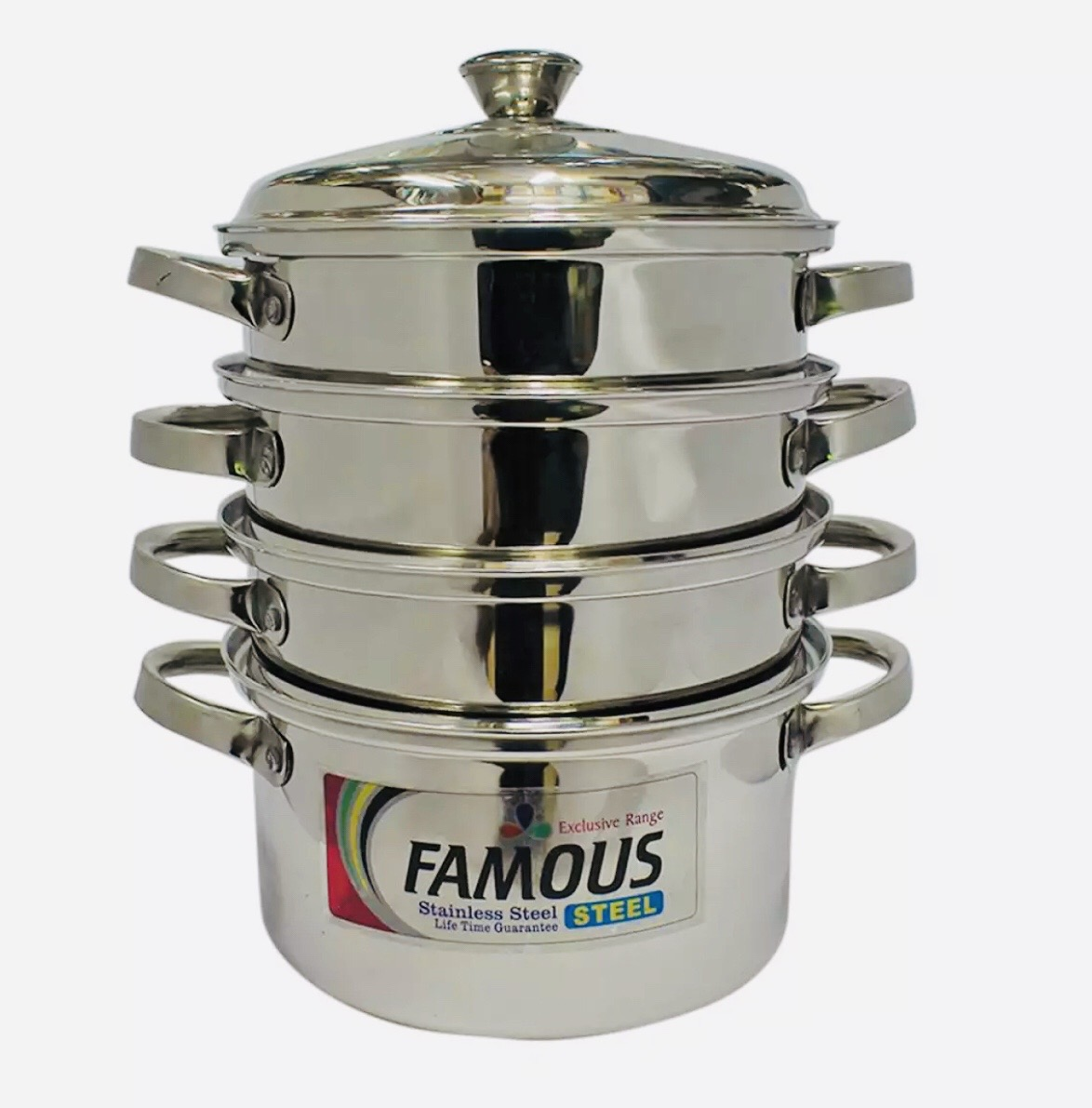 Famous Stainless Steel 3 Step Momo Cooking Pot