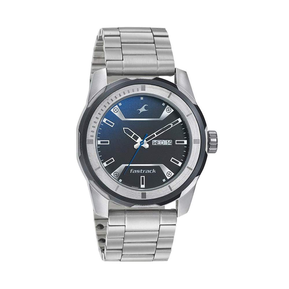 Fastrack Analog Blue Dial Watch for Men 3166KM01