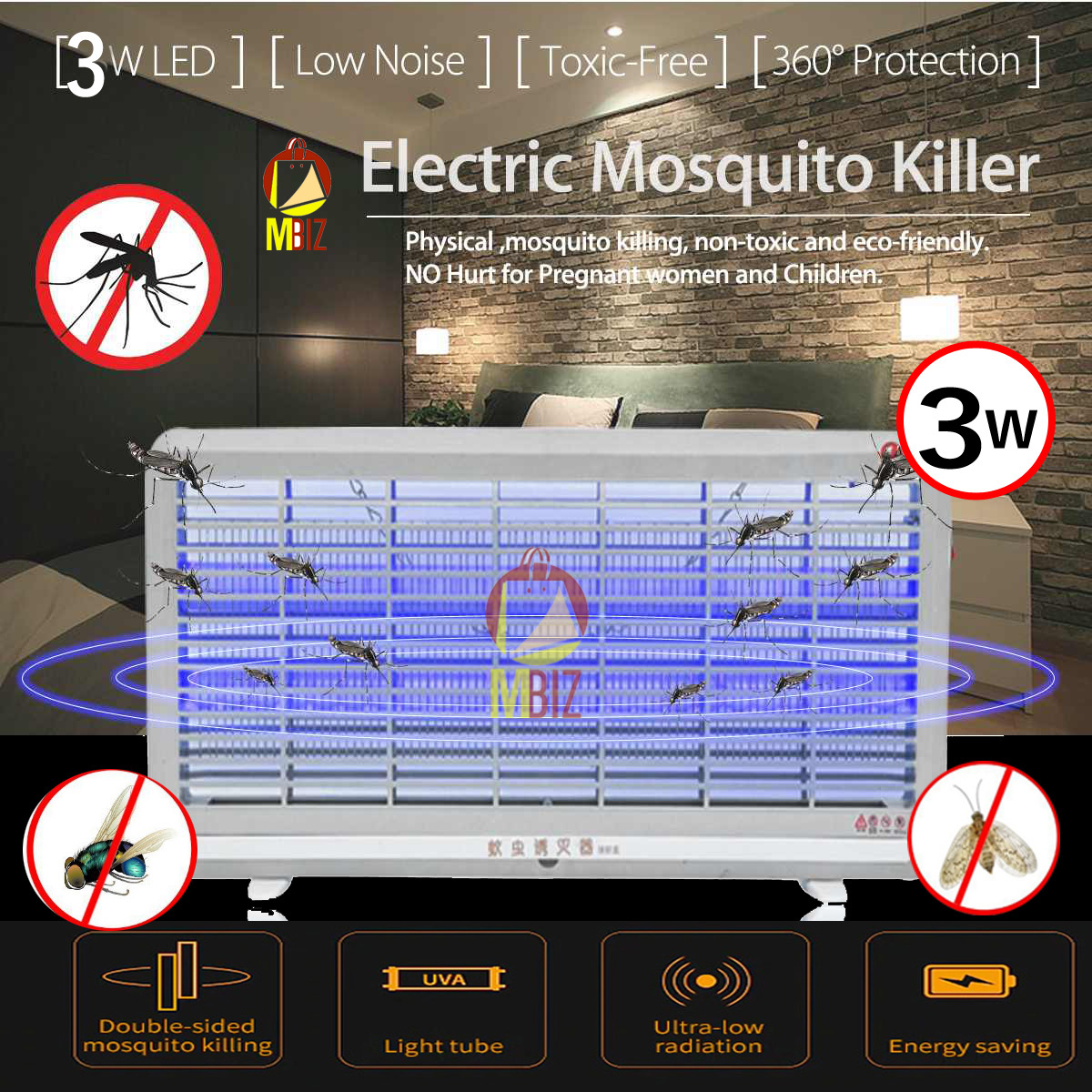 Maharaja Electronic UV Pest / Mosquito /Insect Killer Lamp 36 Wt. 1 yr. Warranty