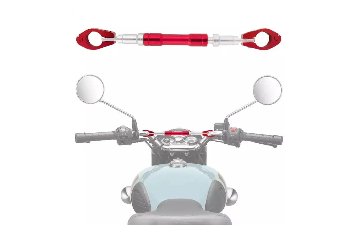 Universal Motorcycle Cross Bar Handle Supporter Handle Bar For All Bikes Red Color