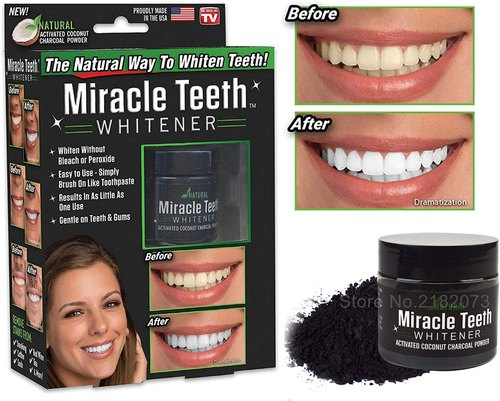 Charcoal Tooth Whitening Powder - Teeth Cleaner -Natural Whitening Coconut Charcoal Powde