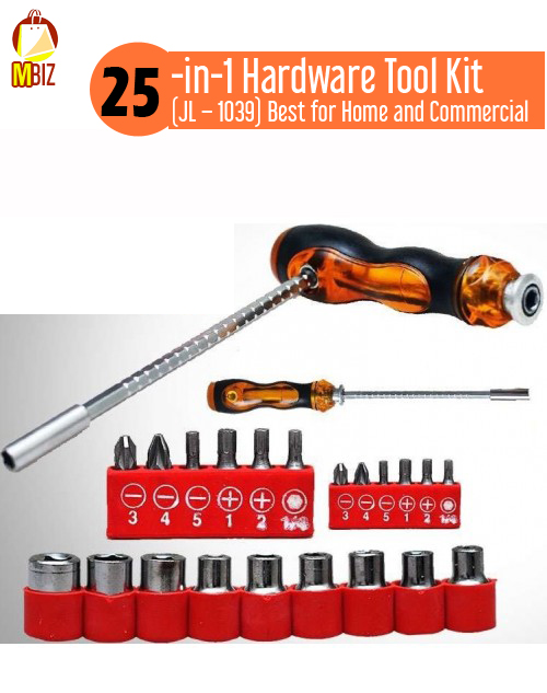25-in-1 Hardware Tool Kit (JL – 1039) Best for Home and Commercial