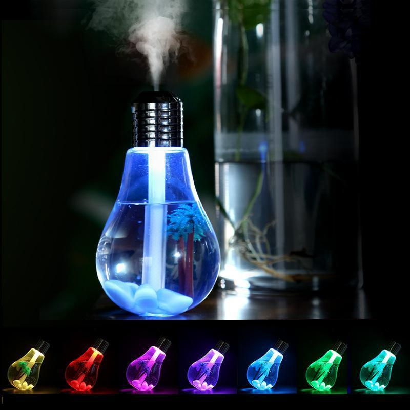 Cool Mist Humidifier Bulb Air Purifier Humidifier With Whisper Quiet Operation,Automatic Shut-Off And Led Night Light Functions