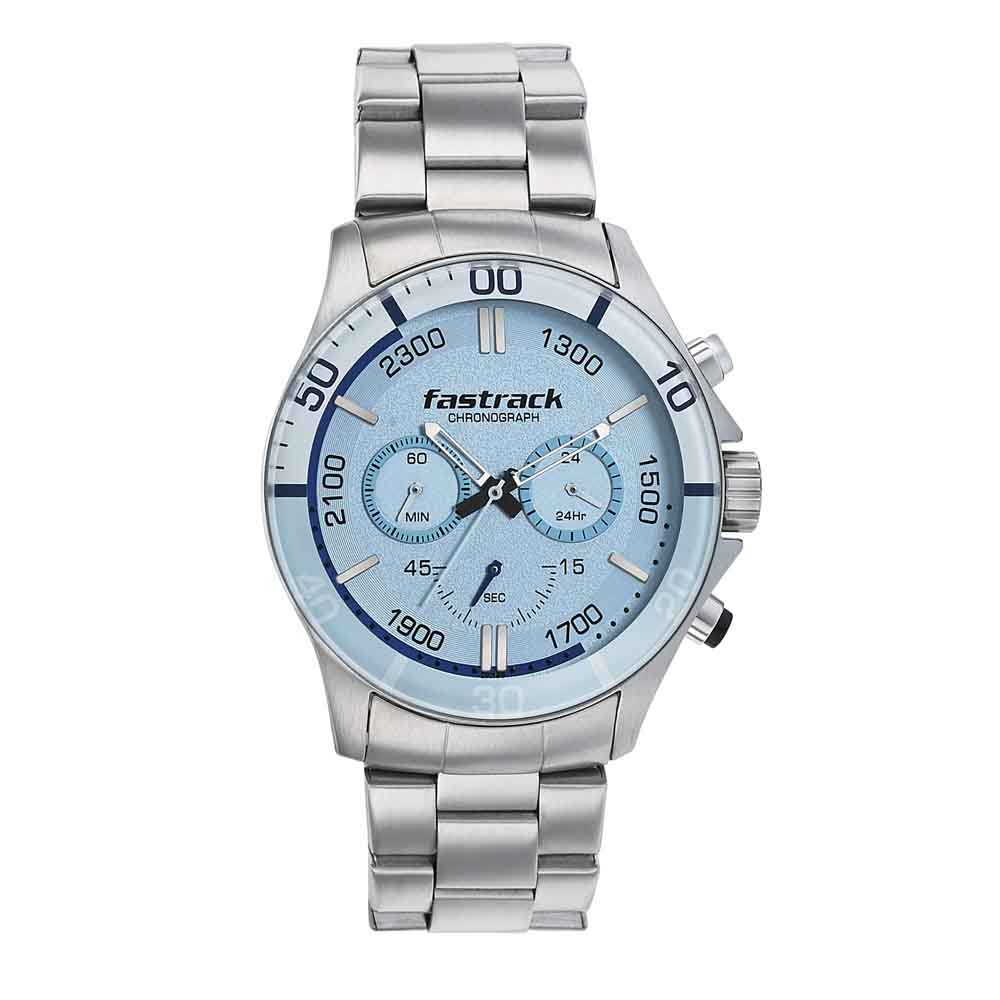 Fastrack Analog Blue Dial Watch for Men 3072SM05
