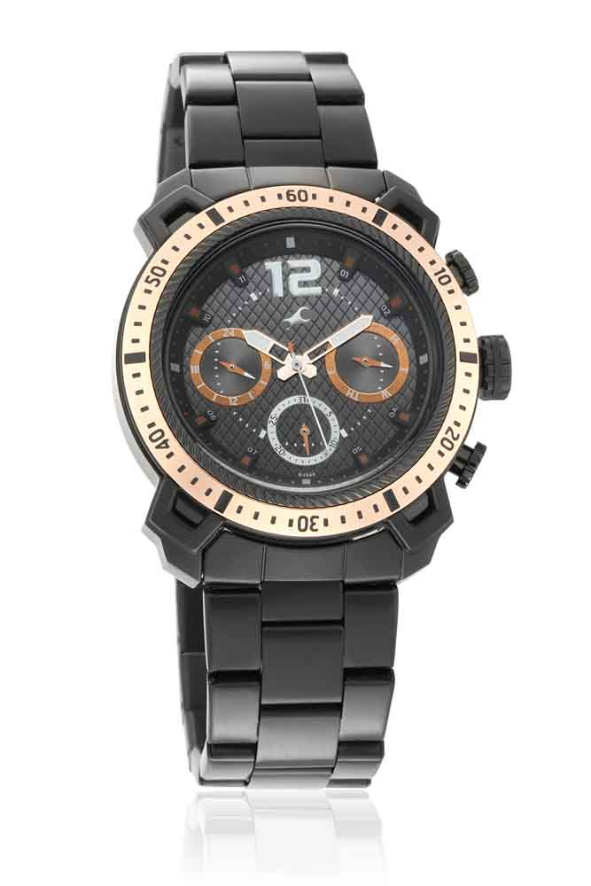 Fastrack All Nighters Analog Black Dial Watch for Men 3193KM01