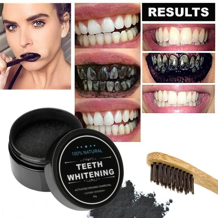 Teeth Whitening Charcoal Powder Activated Charcoal Coconut Tooth Whitening Safe Natural Teeth Whitener Solution