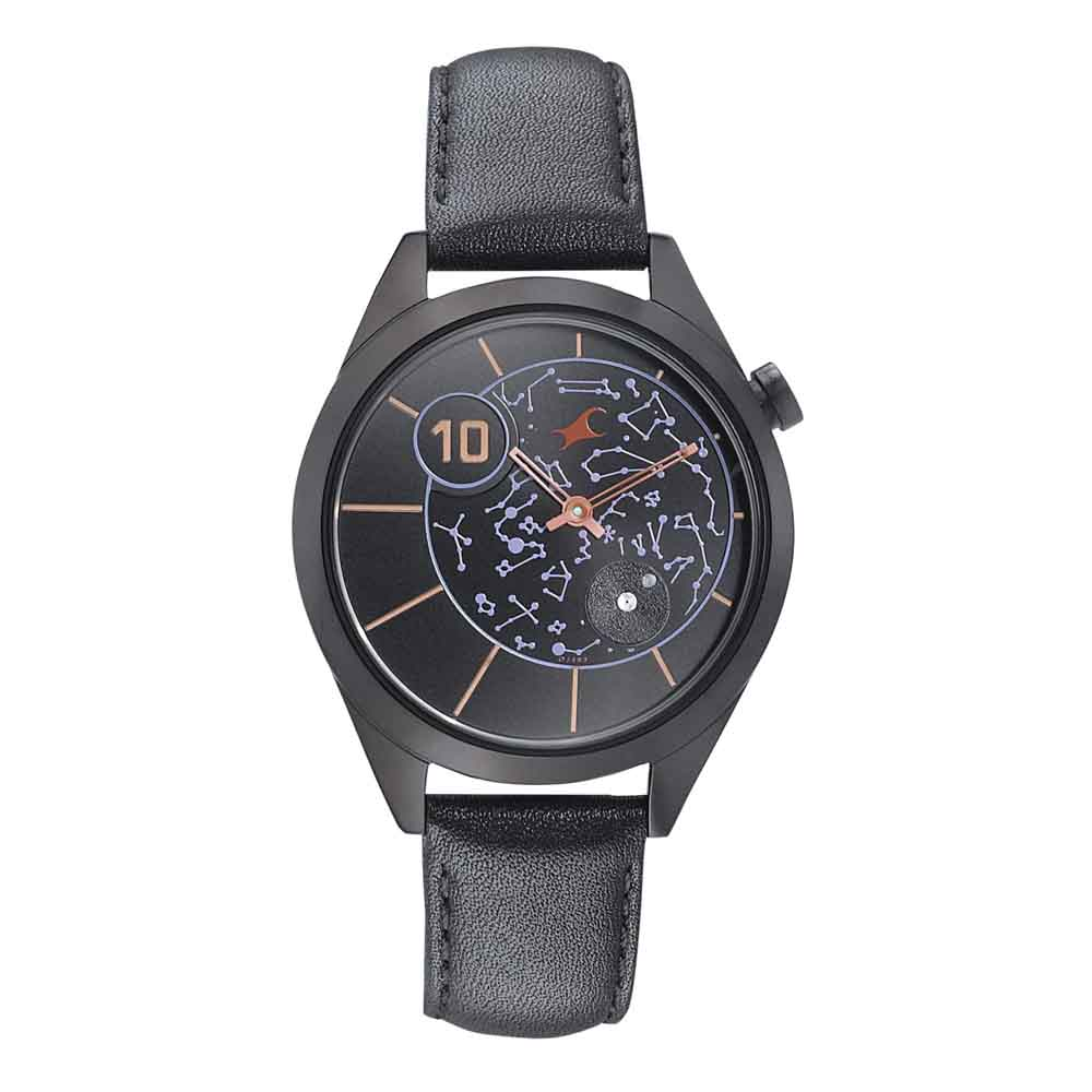 Fastrack Space Analog Black Dial Watch For Woman 6193NL01