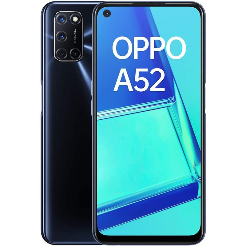 Oppo A52 (4GB RAM / 128GB ROM) With 5000 mAh Battery - Black
