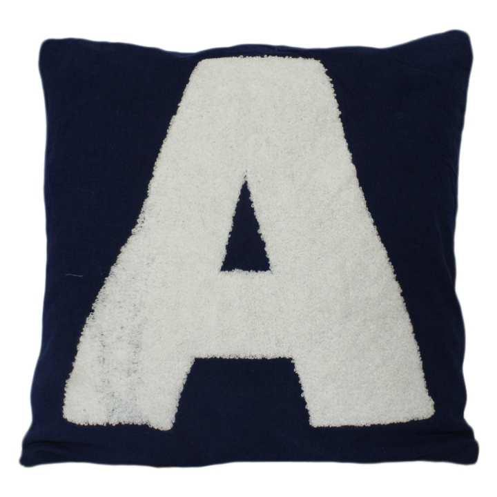 Pack Of 5 Blue 'A' Printed Cushion Cover