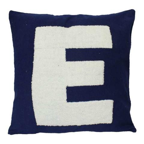 Pack Of 5 Blue 'E' Printed Cushion Cover