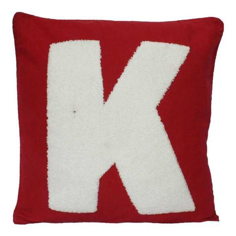 Pack Of 5 Red 'K' Printed Cushion Cover