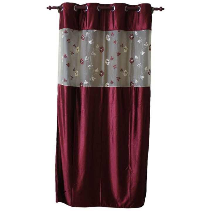 Floral Pattern Cotton Fabric Window/Door Curtain