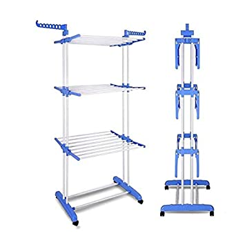 Heavy Duty Double Pole Foldable Clothes Dryer Drying Stand