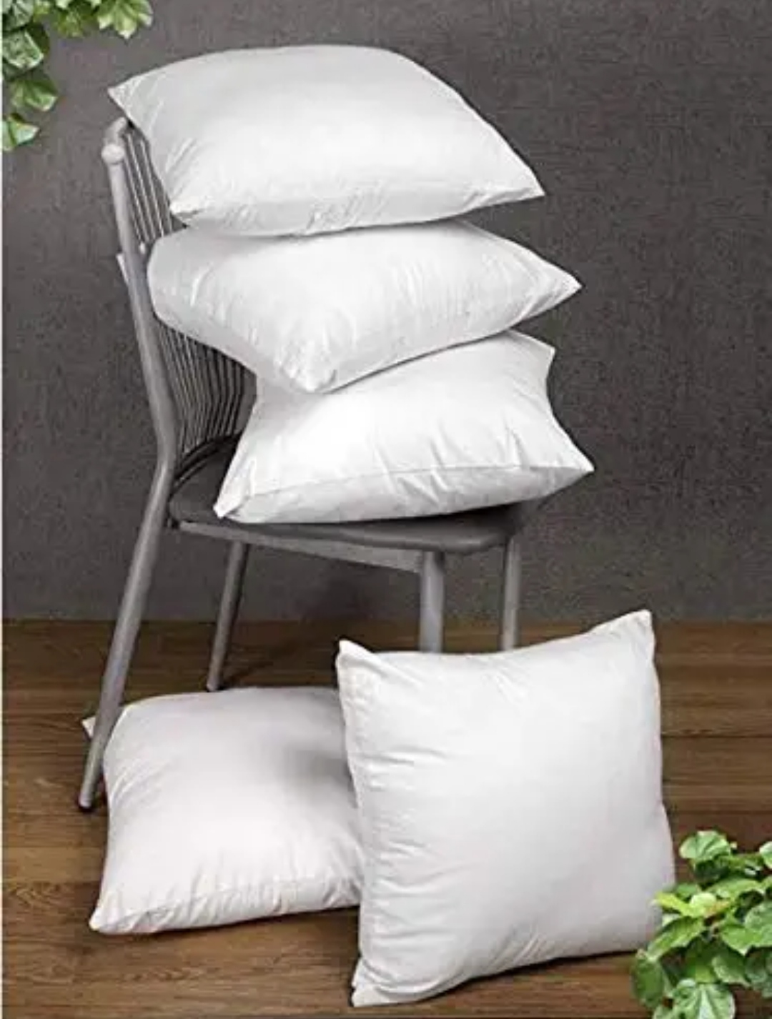 Soft Quality Premium Cushion Set of 5-16x16 Inches
