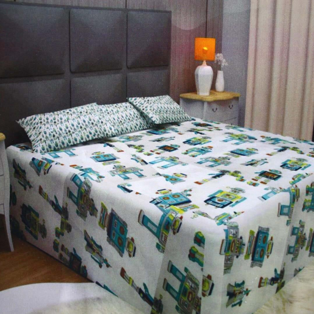 100% Cotton Double Bedsheet For Double Bed With 2 Pillow Covers Set, King Size Bedsheet Series, 140 Tc